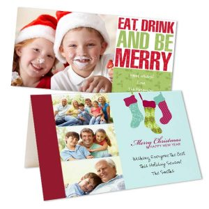 Create your own Christmas Cards with RitzPix, we offer folding and Flat Photo cards