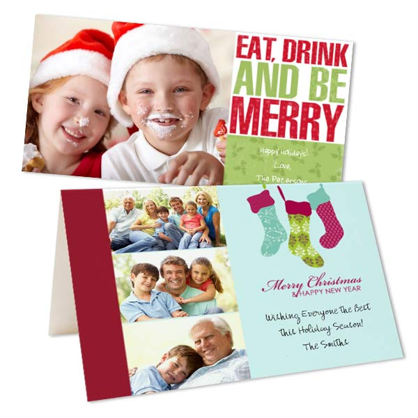Create your own custom photo Christmas Cards. We offer a variety of beautiful designs and layouts!