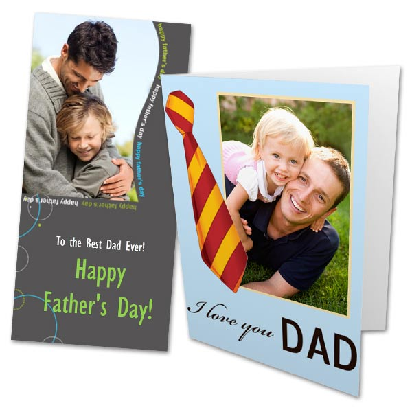 Create your own card just for Dad with RitzPix Personalized Fathers Day Cards