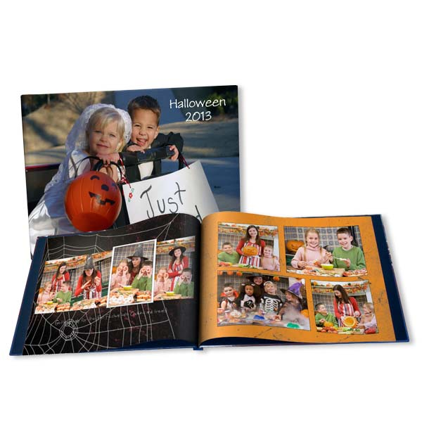 Remember the spooky decorations and scary costumes each year in a custom Halloween Photo book