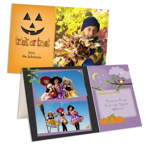 Share your Halloween costumes with family in the mail with Custom Halloween Cards
