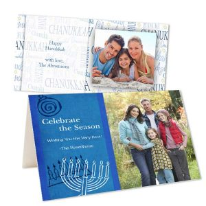 Wish all the joy and happiness of the Festival of lights with Custom Hanukkah cards from RitzPix
