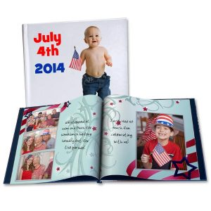 Create a photo book to remember Independence day the 4th of July