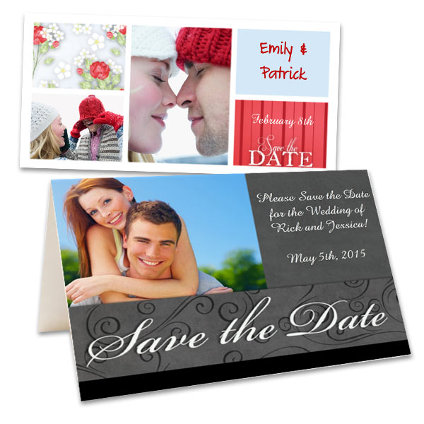 Create your own save the date cards and send out your special announcements