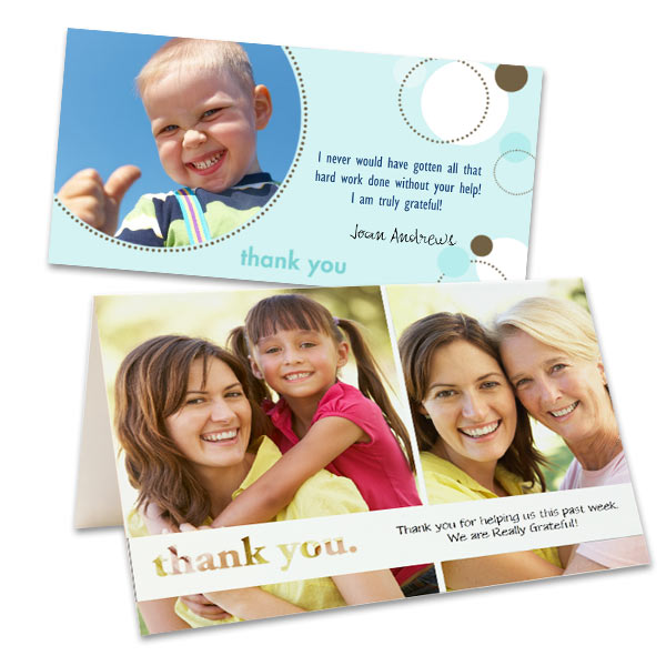 Send a special thanks with a smile with personalized photo thank you cards from RitzPix