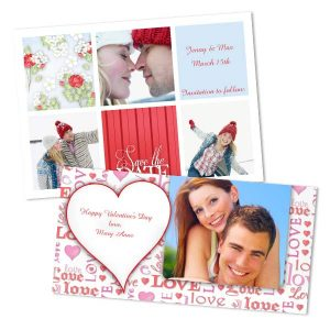 Send the one you care about a special card for Valentine's Day with custom RitzPix Photo Cards