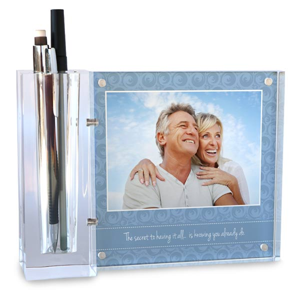 Add your photo photo or photos to create a custom desk set