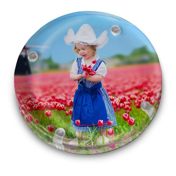 Create a beautiful photo paperweight for your desk with a picture