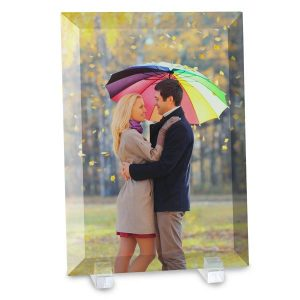 Turn your photo into a unique piece of art with a beveled glass photo print