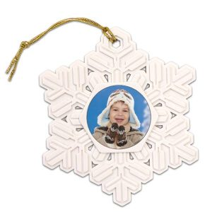 Turn your photo into a beautiful snowflake photo ornament for the holiday