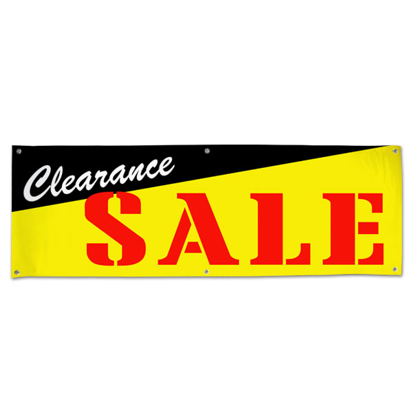 Pre-printed Clearance Sale Banner for your small business size 6x2