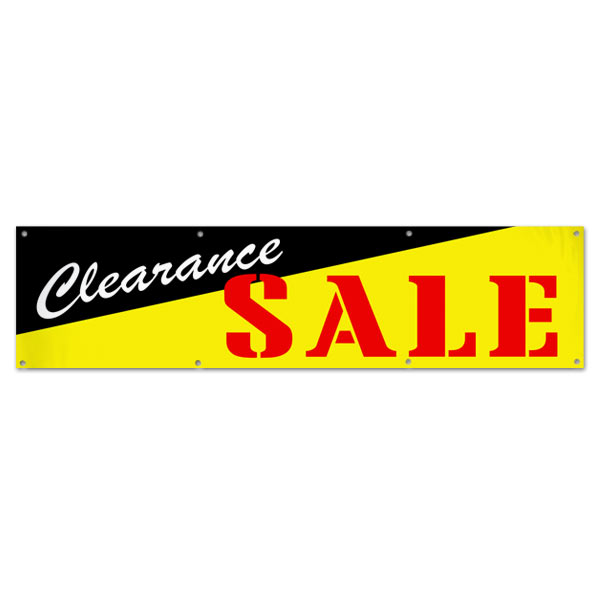 Pre-printed Clearance Sale Banner for your small business size 8x2
