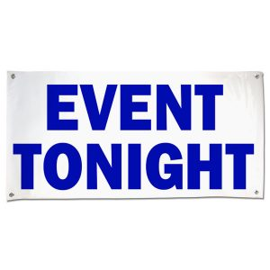 Make sure your guests can find the venue with an a large banner announcing your even size 4x2
