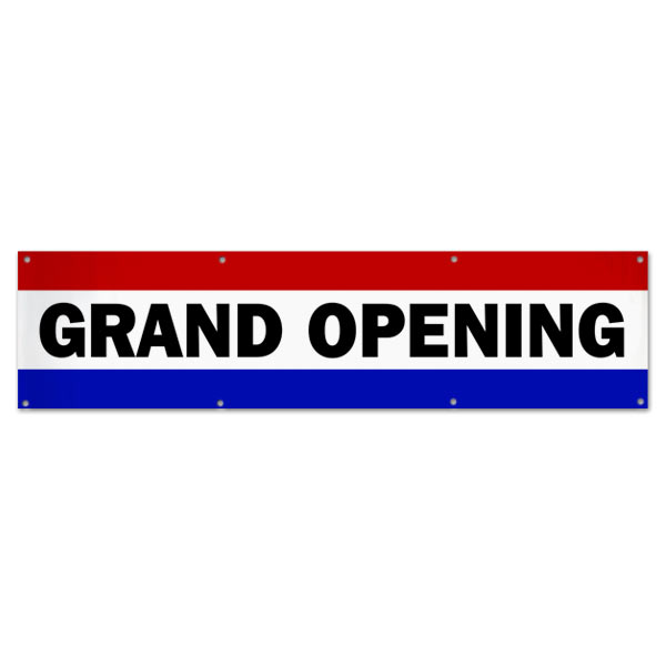 Grand Opening banner for your small business with a Classic Patriotic flair size 8x2