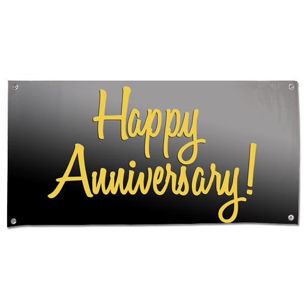 Perfect for your party or event, wish your parents a Happy Anniversary with a 4x2 Banner