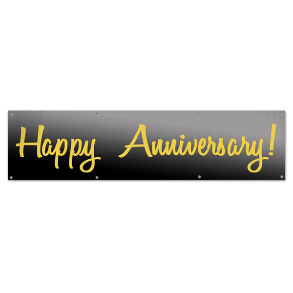 Perfect for your party or event, wish your parents a Happy Anniversary with a 8x2 Banner