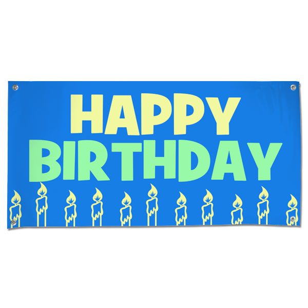 Decorate for your Birthday party and event with a Happy Birthday Banner size 4x2