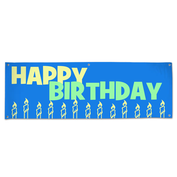 Decorate for your Birthday party and event with a Happy Birthday Banner size 6x2