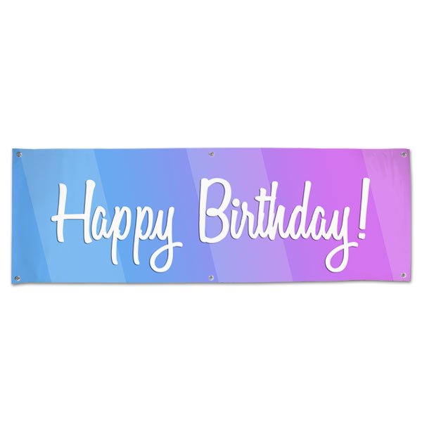 Celebrate a birthday with a party and be sure to decorate with a Happy Birthday Banner size 6x2