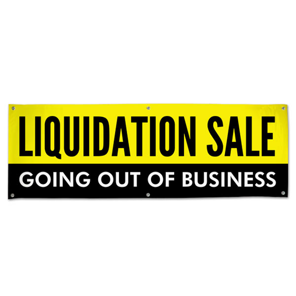 Manage your business and liquidation with a Going out of Business Liquidation Sale Banner 6x2