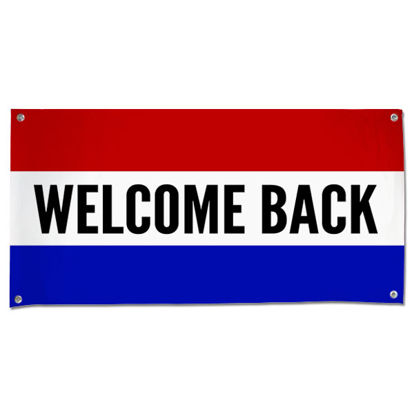 Welcome some one back with a classic style patriotic banner, perfect for welcoming home troops size 4x2