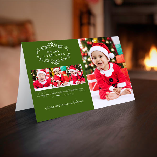 Create your own cute, professionally printed 5x7 folded photo cards with RitzPix Christmas Cards