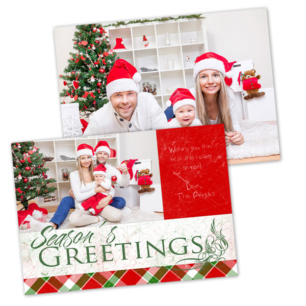 Create a two sided Holiday card to share with your family this Christmas or Hanukkah