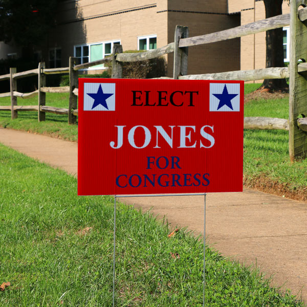 Design your own election and voting sign to display in your neighborhood