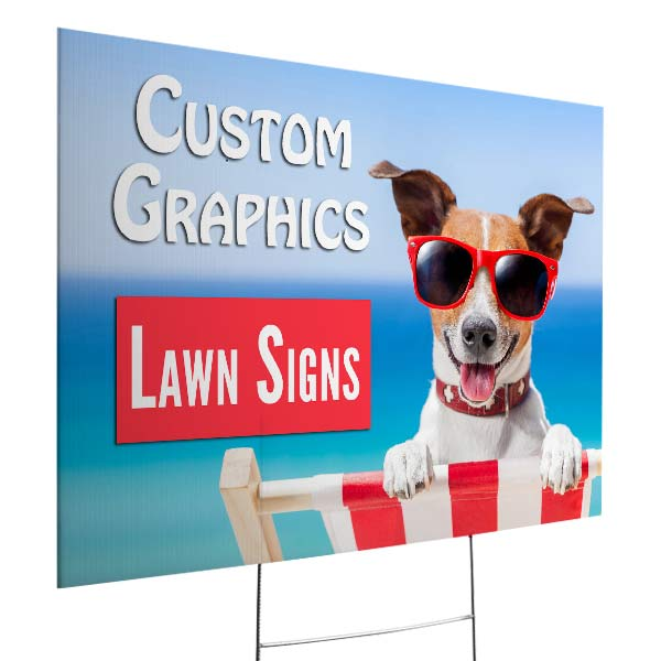 Create an outdoor lawn sign for your small business with RitzPix