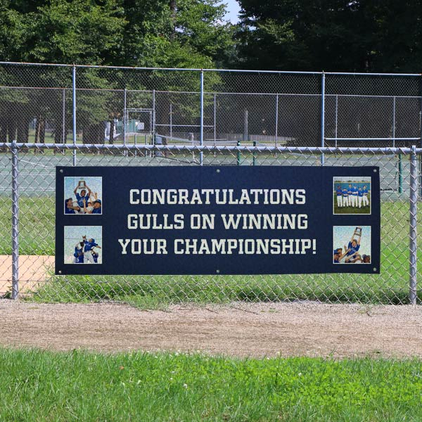 Perfect for sports, mesh banners are ideal for outdoor display