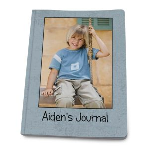 Custom cover journals available with personalized front and back covers