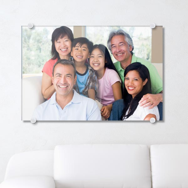 Print your photo on acrylic with floating stand offs for a unique look
