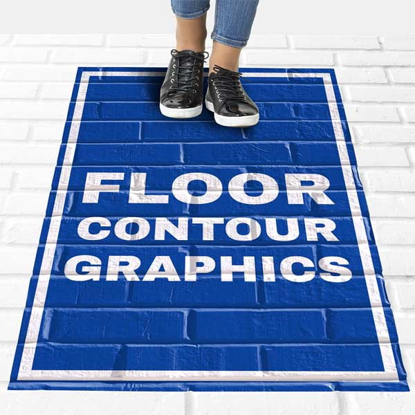 Add a custom sign to the floor or ground with contour floor graphics from RitzPix