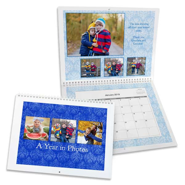 Create the best gift that can be used all year round with a personalized wall calendar for 2019