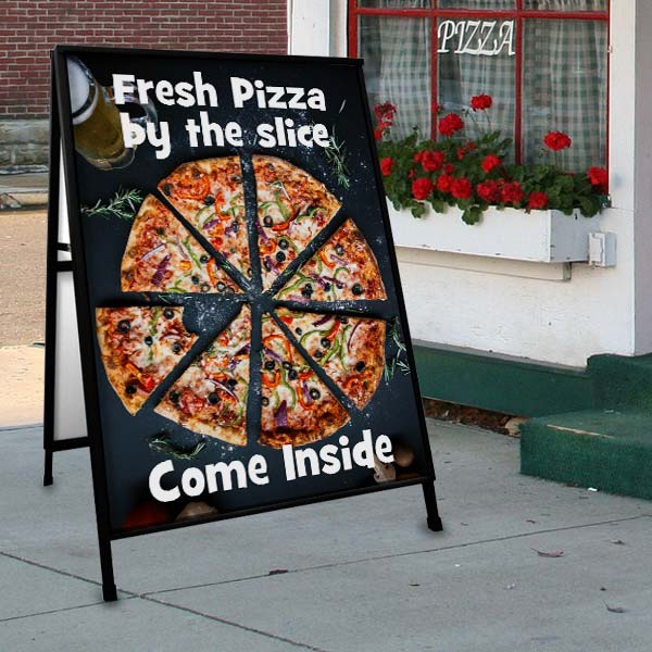 Increase your sales and visibility with an outdoor sidewalk sign for shop