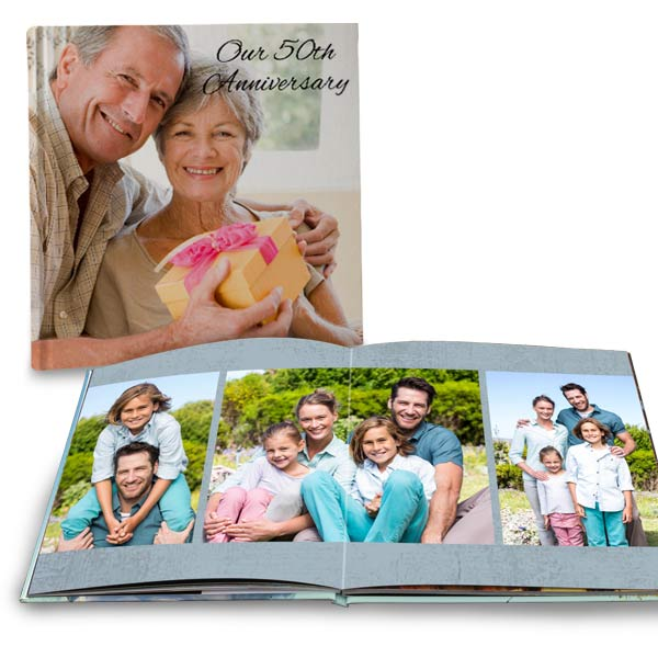 Customize your own professionally printed photo book with full spread pages