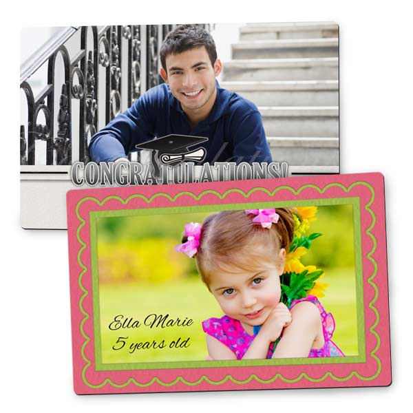 Print your picture with a custom border for a magnet for your refrigerator