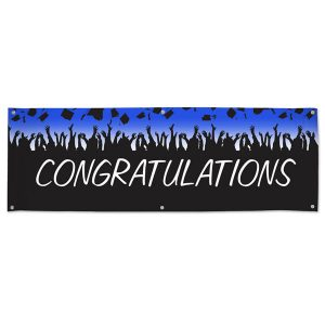 Throw a party for your graduated student with a Congratulations Banner