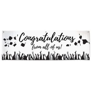 Order a Congratulations banner for your graduate and add signatures