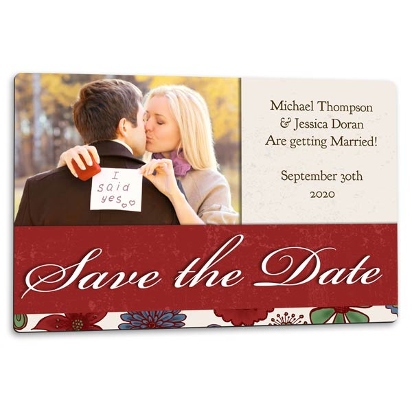 Perfect for your wedding, create save the date photo magnets to send to family and friends