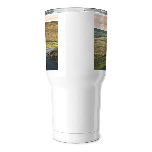 Warm your heart and body with a personalized 30oz insulated tumbler for hot or cold beverages.