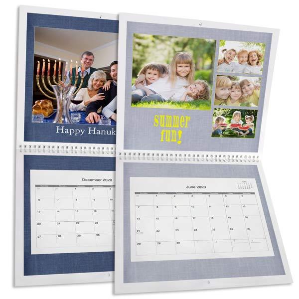 Create a personalized spiral bound calendar for 2020 with RitzPix 12x12 Calendars