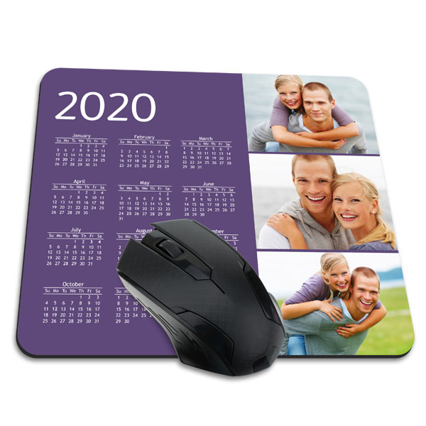 Upload your favorite photos and design your own calendar mouse pad to update your office!