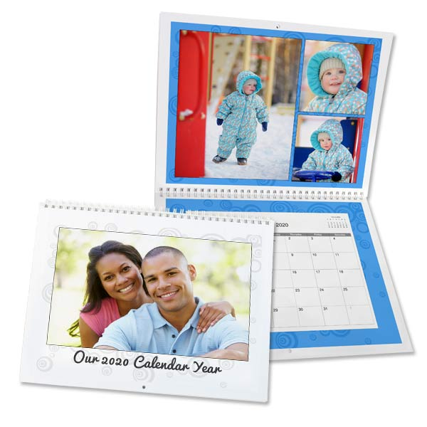 Create the best gift that can be used all year round with a personalized wall calendar for 2020