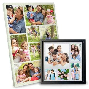 Collage canvas allows you to share many memories in one beautiful work of art
