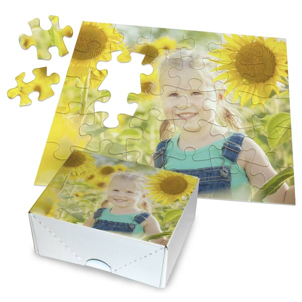 Create a gift the whole family can enjoy, custom photo puzzles available in multiple sizes