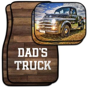 Add flare to your drive with custom car floor mats, perfect for dad or any car lover