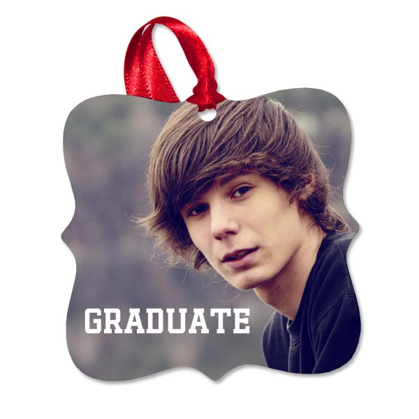 Create a custom photo ornament for your graduating senior for Christmas
