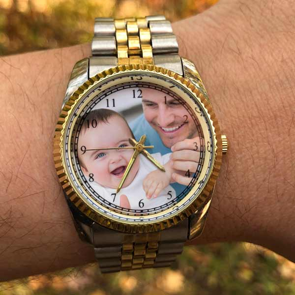 Create a custom photo watch by adding your own picture to the watch
