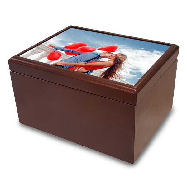 Personalize your own jewelry box with photos and custom text